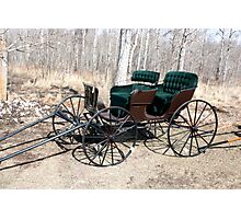 """Are You Ready Yet?* Four  Passenger  Pleasure  Buggy  With Velvet Seats Photographic Print"
