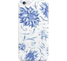 Elegant Pattern with Indigo Flowers iPhone Case/Skin