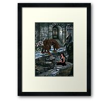 Werewolf and the Maiden Framed Print