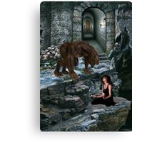 Werewolf and the Maiden Canvas Print