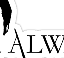 Castle Always (black) Sticker