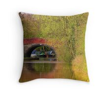 Bridge 21 - Ashby Canal Throw Pillow