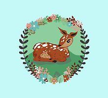 Woodland Fawn by ArtByCarly