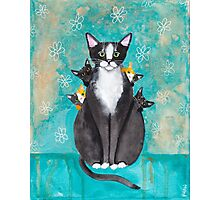 Mother's Day Portrait with Kittens Photographic Print