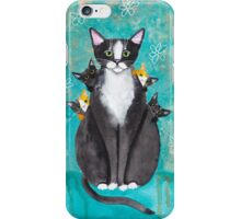 Mother's Day Portrait with Kittens iPhone Case/Skin