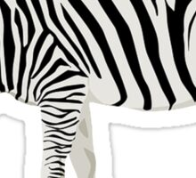Zebra, Illustration Sticker