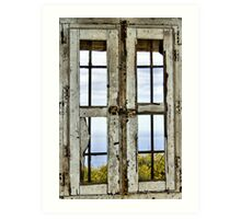 Window, Look Out Tower, Bateria Cenizas, Costa Calida, Spain  Art Print
