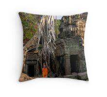 STRANGLER FIG - CAMBODIA Throw Pillow