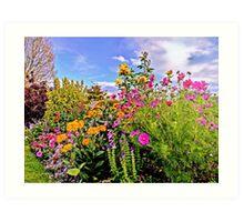 Cottage Garden Flowers Art Print