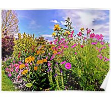 Cottage Garden Flowers Poster