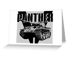 Panther Tank Greeting Card