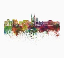 Angers skyline in watercolor background Kids Clothes