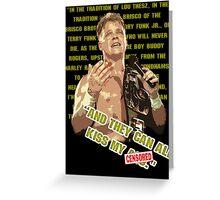 ECW Shane Douglas NWA '94 T - Shirt (censored) Greeting Card