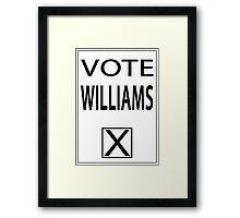 vote williams Framed Print