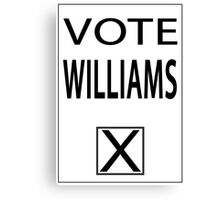 vote williams Canvas Print