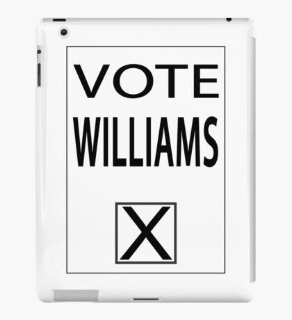 vote williams iPad Case/Skin