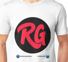 RG Logo In Black & Red With Social Links Unisex T-Shirt