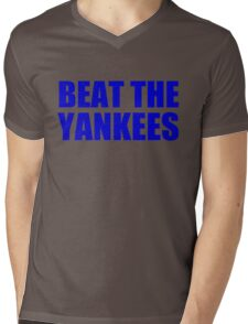 New York Mets - BEAT THE YANKEES Mens V-Neck T-Shirt