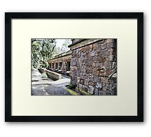 Bateria de Cenizas, Costa Calida, Spain  Framed Print