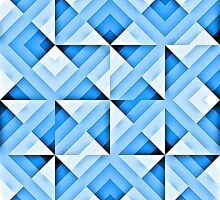 white and blue triangle background by bobstudio