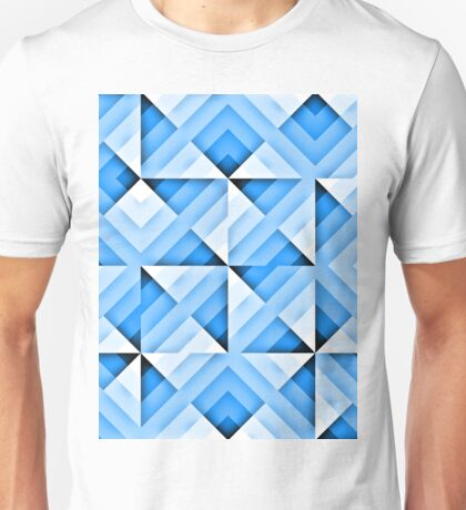 white and blue triangle background Unisex T-Shirt