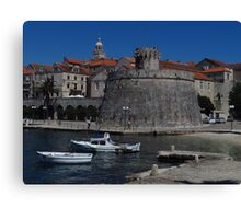 Korcula Old Town Canvas Print