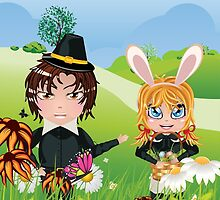 Easter Boy and Girl 3 by AnnArtshock