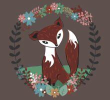 Woodland Fox One Piece - Short Sleeve