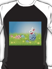 Easter Bunny and Grass Field T-Shirt