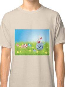 Easter Bunny and Grass Field Classic T-Shirt