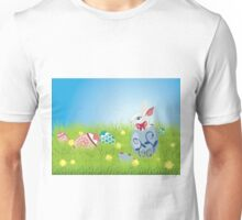 Easter Bunny and Grass Field Unisex T-Shirt
