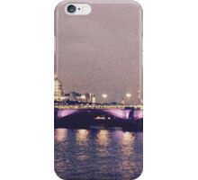 Grainy London Waterloo Bridge iPhone Case/Skin