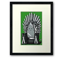 The REAL Iron Throne Framed Print
