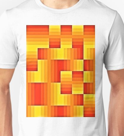 abstract square background Unisex T-Shirt