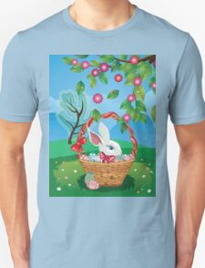 Easter Bunny and Grass Field 2 T-Shirt
