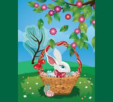 Easter Bunny and Grass Field 2 Unisex T-Shirt