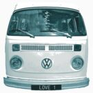 Blue VW Campervan by Prettyinpinks