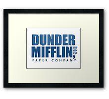 Dunder Mifflin The Office Logo Framed Print