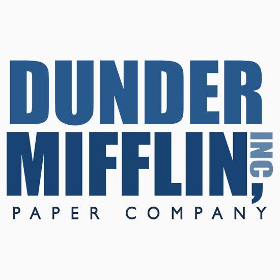 """Dunder Mifflin The Office Logo"" Stickers by caseyward ..."