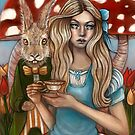 Alice and the March Hare by MoonSpiral