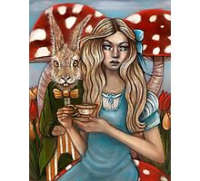 Alice and the March Hare Photographic Print