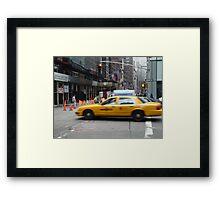 Busy New York Street Framed Print