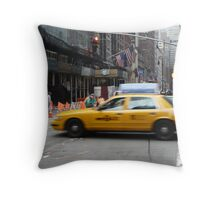 Busy New York Street Throw Pillow