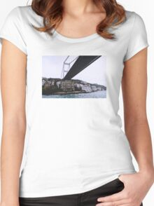 Under the bridge downtown .... Women's Fitted Scoop T-Shirt