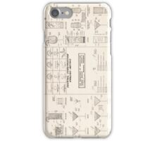 Cocktail Construction Chart by United States Forest Service iPhone Case/Skin