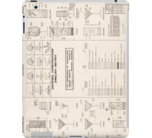 Cocktail Construction Chart by United States Forest Service iPad Case/Skin