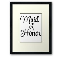 Maid of Honor Graphic Framed Print