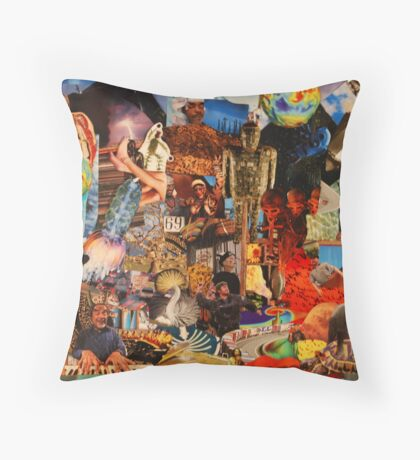 Voodoo Circus Throw Pillow