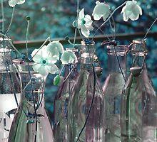 Flowers in the glass by Dieuwke   Rafferty