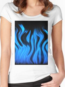 blue flame Women's Fitted Scoop T-Shirt